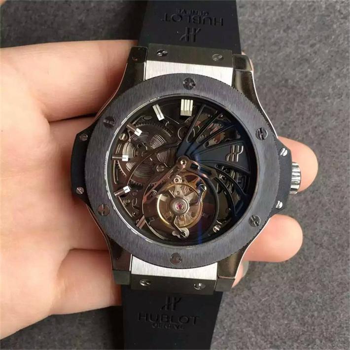 【HF製 1:1N級品】ウブロ ビッグバン最新 トゥールビヨン メンズ ブランド腕時計